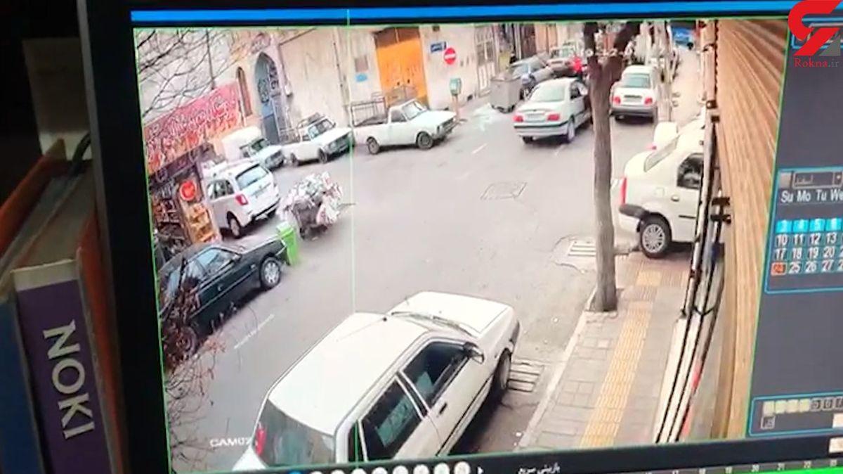 کتک زدن زورگیر تهرانی به دست دختر جوان + فیلم